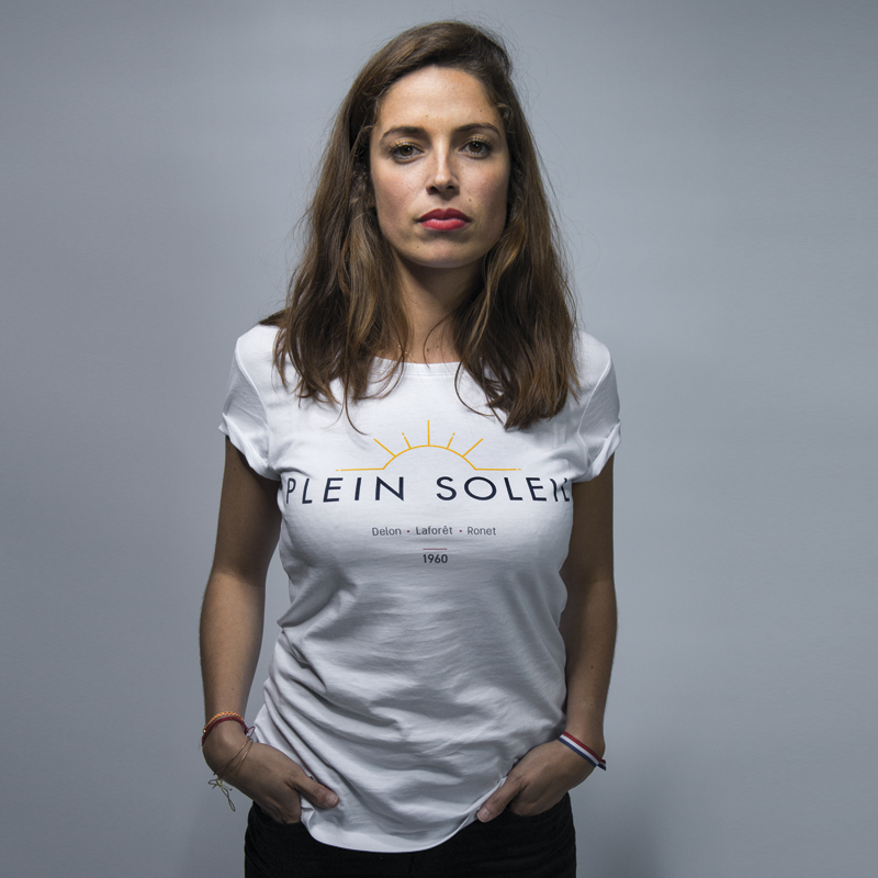 Shifumi Club - tee shirt - plein-soleil-femme-white - designed by Wasabi Artwork