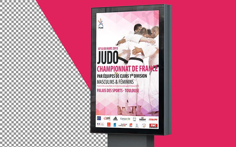Communication Print & Web des championnats de France de Judo - FFJUDO